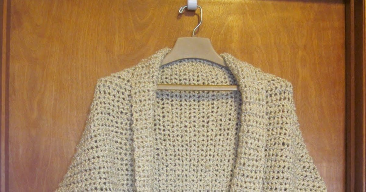My version of the lionbrand crochet shrug: I\'ve been browsing the ...