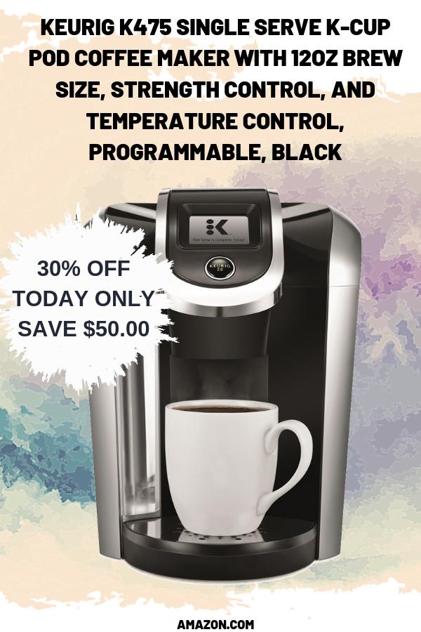 Keurig K475 Single Serve KCup Pod Coffee Maker with 12oz