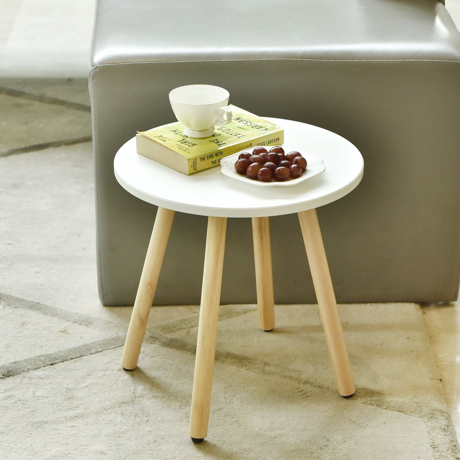 Welland Wood End Table Modern Round Coffee Table Living Room Side Table For Magazines Books And P Round Coffee Table Modern Coffee Table Living Room Side Table [ 1600 x 1600 Pixel ]
