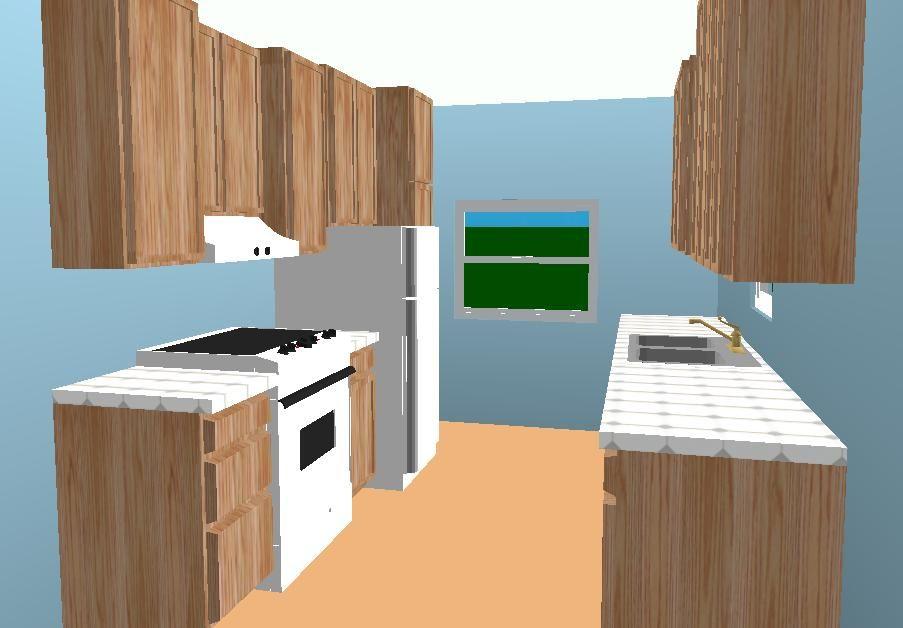 Galley Kitchen Layout Ideas | Galley RTA Kitchen Layout   RTA Kitchen  Cabinets U0026 Bathroom Vanity