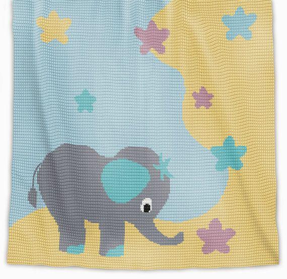 CROCHET Pattern Baby Blanket Pattern Stargazer por PatternWorldUK ...