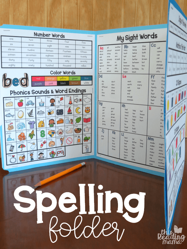 Spelling Folder With Free Printables Free Resources For