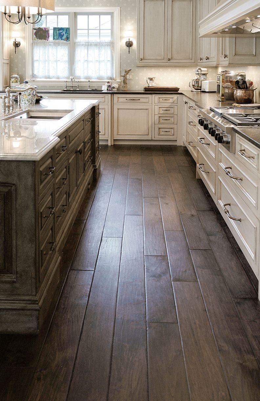 Species Victorian Collection Walnut Select Grade Engineered Hardwood Floor Hand Scraped Ha Hardwood In Kitchen Hardwood Floors In Kitchen Kitchen Flooring