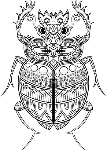egyptian scarab tattoo Buscar con Google Coloring