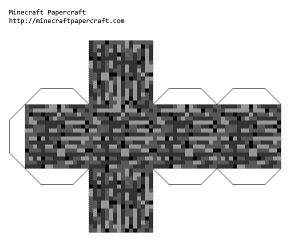 Papercraft Bedrock Adminium Minecraft Printables Diy Minecraft Minecraft Templates
