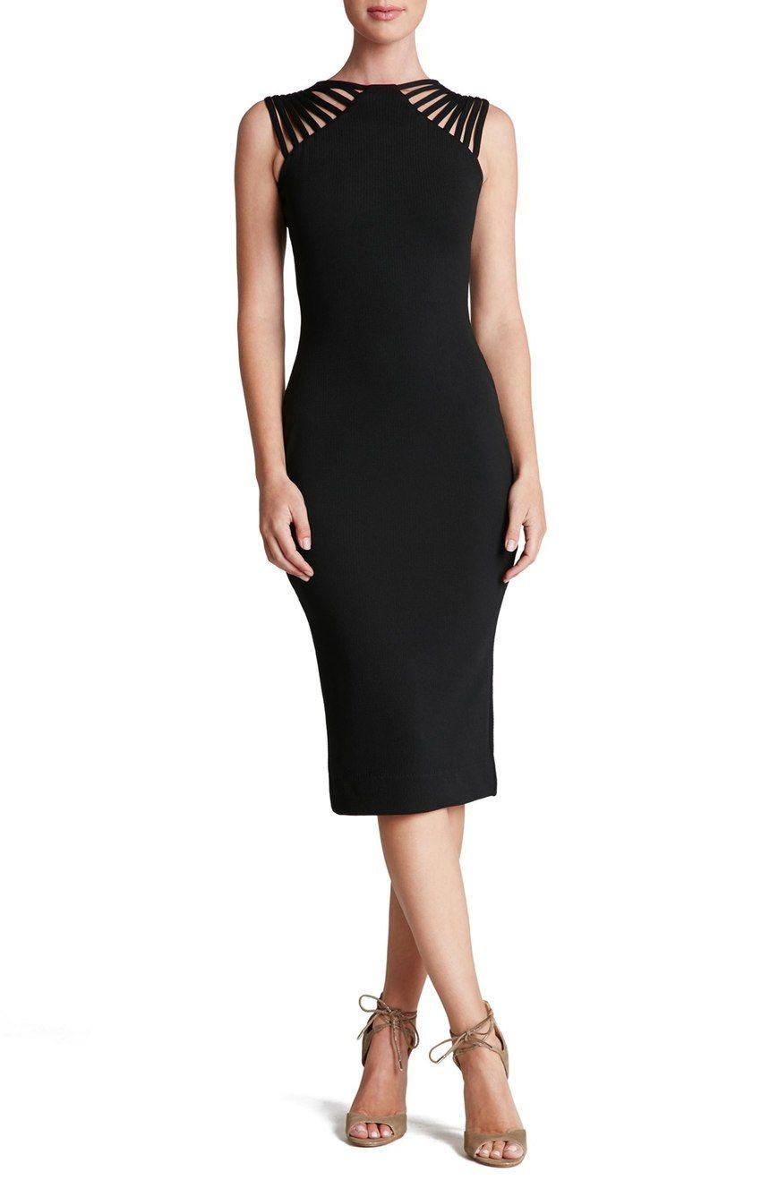 Dress The Population Gwen Midi Dress Nordstrom Knit Midi Dress Nordstrom Dresses Dress The Population [ 1318 x 860 Pixel ]