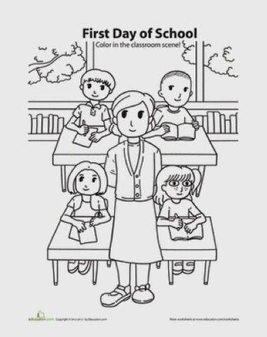 INGLES PARA NIÑOS (FICHAS): Primer día de clases | Educación Rosita ...