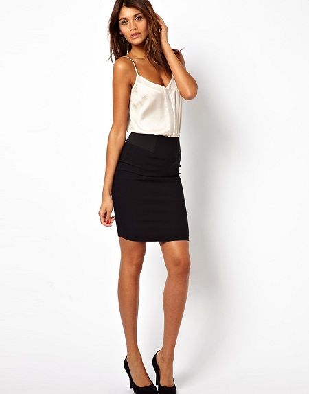 550c2d8a7ca50d Image result for short pencil skirts outfits Sixth Form Outfits, High  Waisted Pencil Skirt,