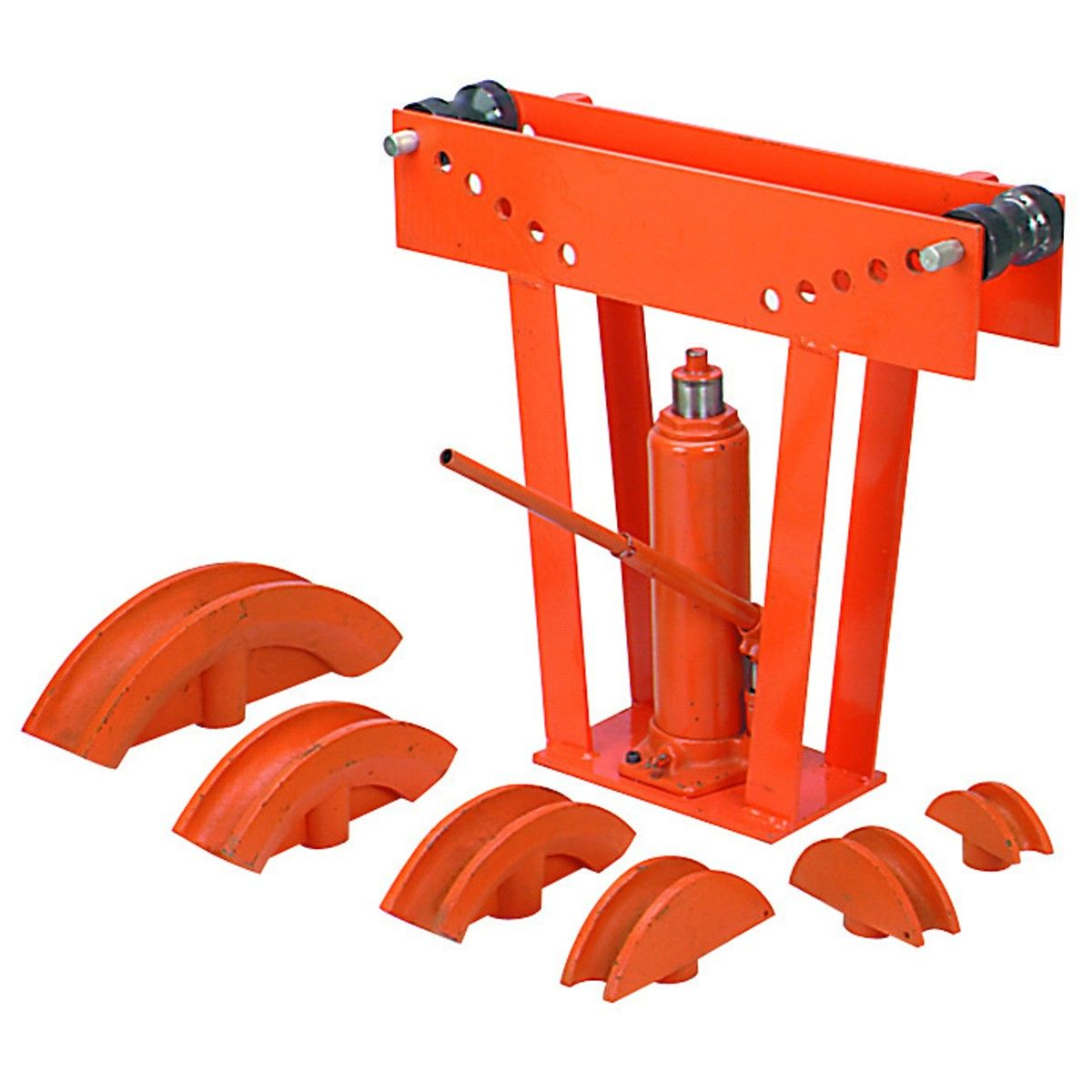 High Quality 12Ton Hydraulic Manual Pipe Bender 6 Dies Tubing Tube Bending Red
