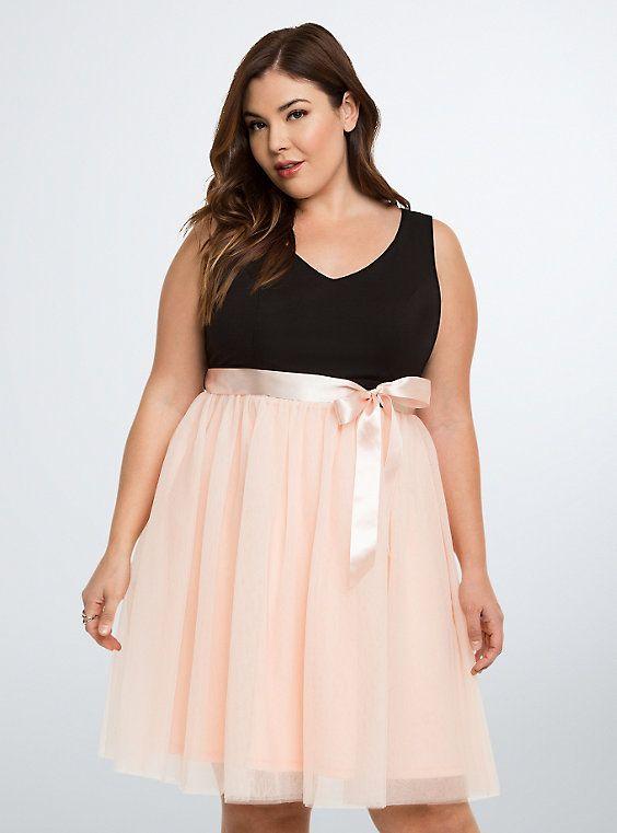 Tulle Skirt Skater Dress | Women\'s Plus Size Clothing | Plus ...