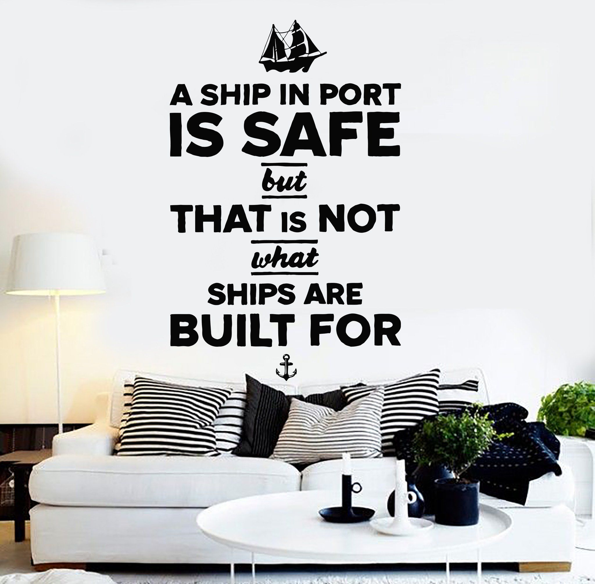 Vinyl Wall Decal Quote Inspiration Motivation Living Room Stickers ...