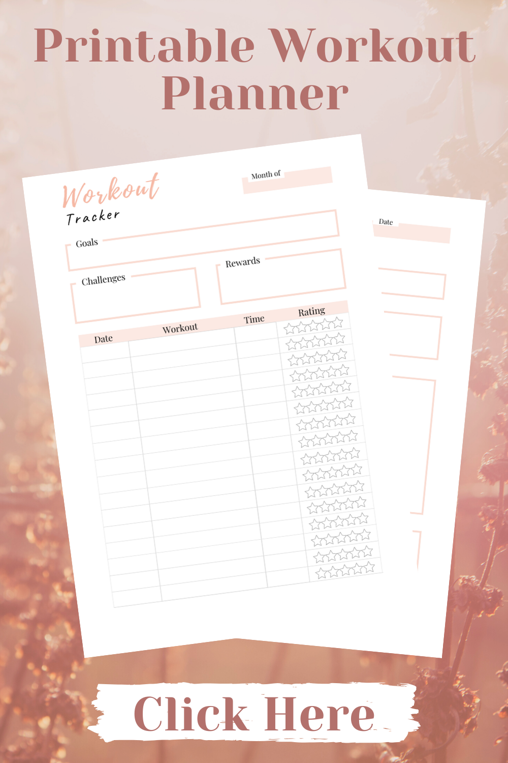 This printable fitness health planner has changed my life! I can plan my weekly …