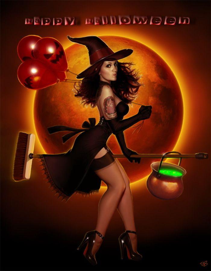 hot sexy halloween happy halloween sexy witch halloween - Naughty Halloween