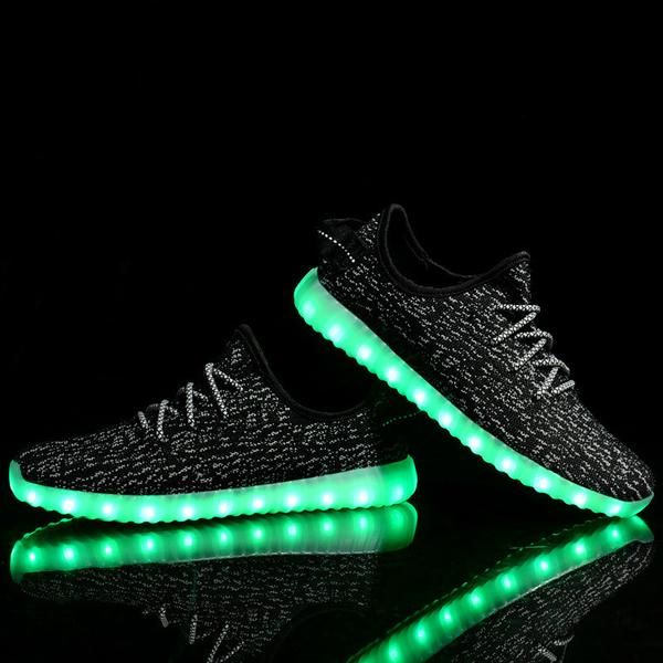 Rechargeable Lightweight Breathable Mesh 7 Colors Light up LED Shoe for Men