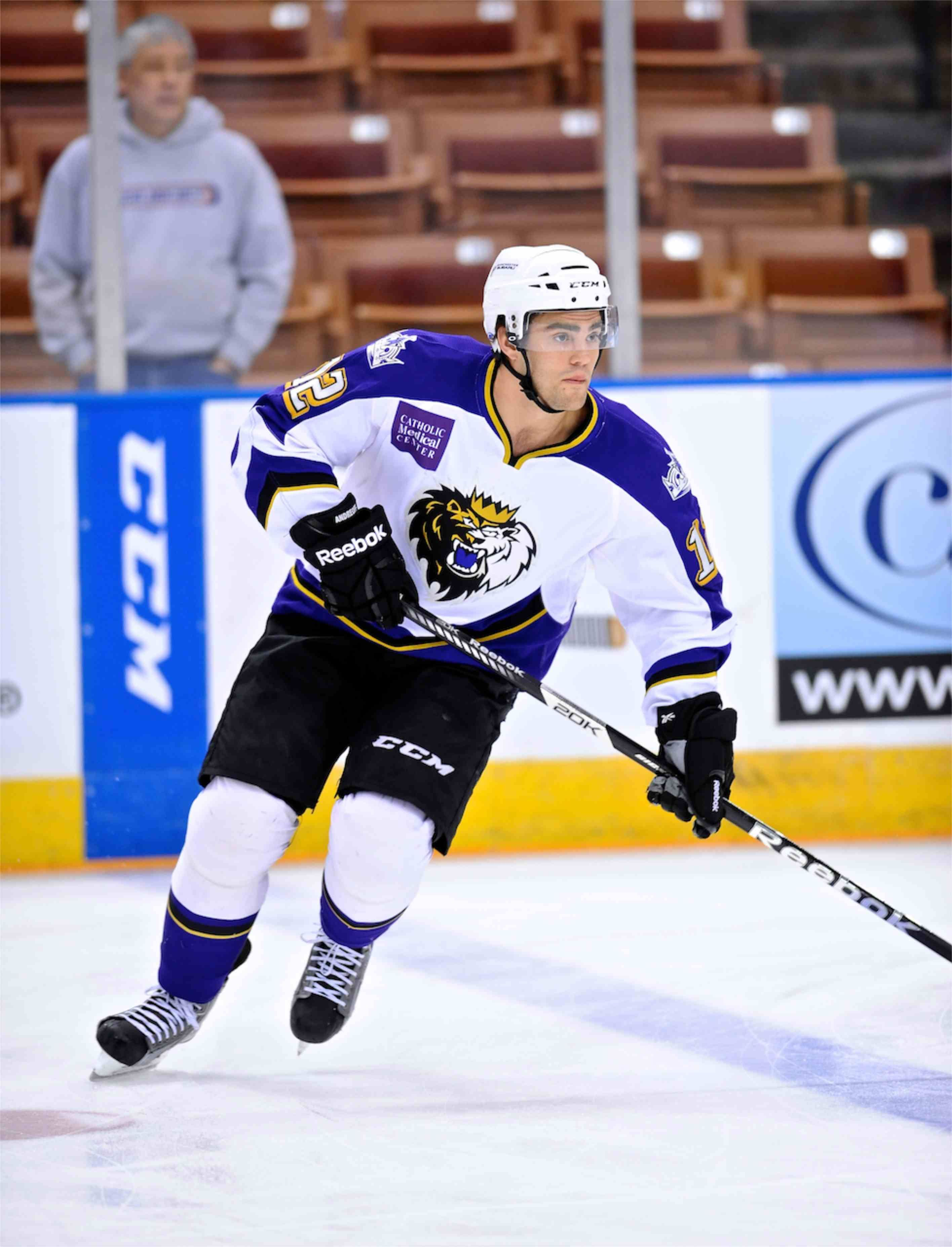 La Kings Lw Prospect Andy Andreoff Didn T Let New Year S Eve Incident Derail His Season Or His Development La Kings Los Angeles Kings Seasons