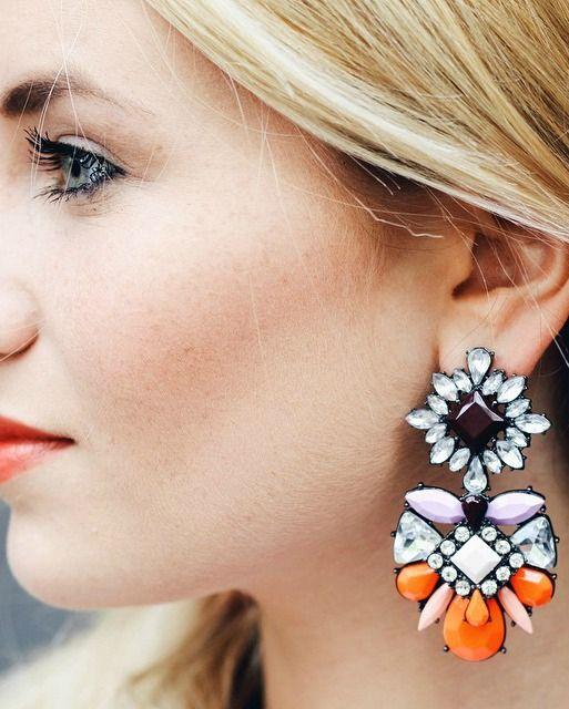Color Heaven Statement Earrings In Orange 15,90 € #happinessbtq