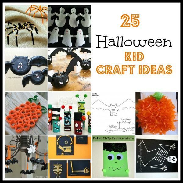 Halloween Kid Craft Ideas #halloween manualidades Pinterest - halloween kids craft ideas