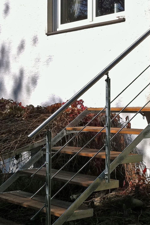 Gelander Rundstabe Treppe Handlauf Aussentreppe