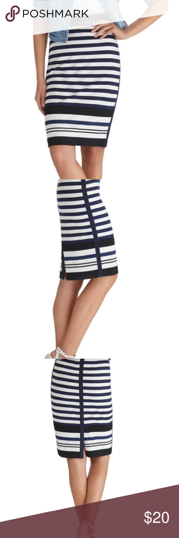 1a4324fb6b WHBM Stripe Knit Pencil Skirt Size 4 WHBM Stripe Knit Pencil Skirt Size 4  Wait 15