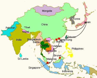 Map of japan and singapore google search travels pinterest map of japan and singapore google search publicscrutiny Images