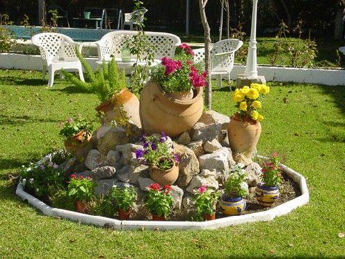 Decorar Con Tinajas De Barro Buscar Con Google Jardines Jardineria De Ladera Jardin Con Piedras