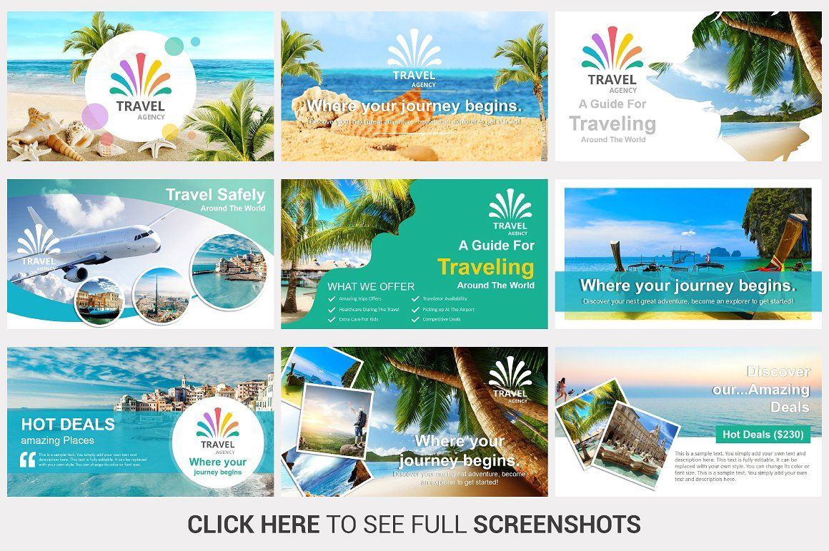 Travel Agency PowerPoint Template Баннер