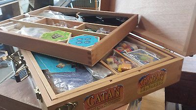 Settlers of Catan Custom Storage Box. Fit all your Catan in 1 box. High quality.