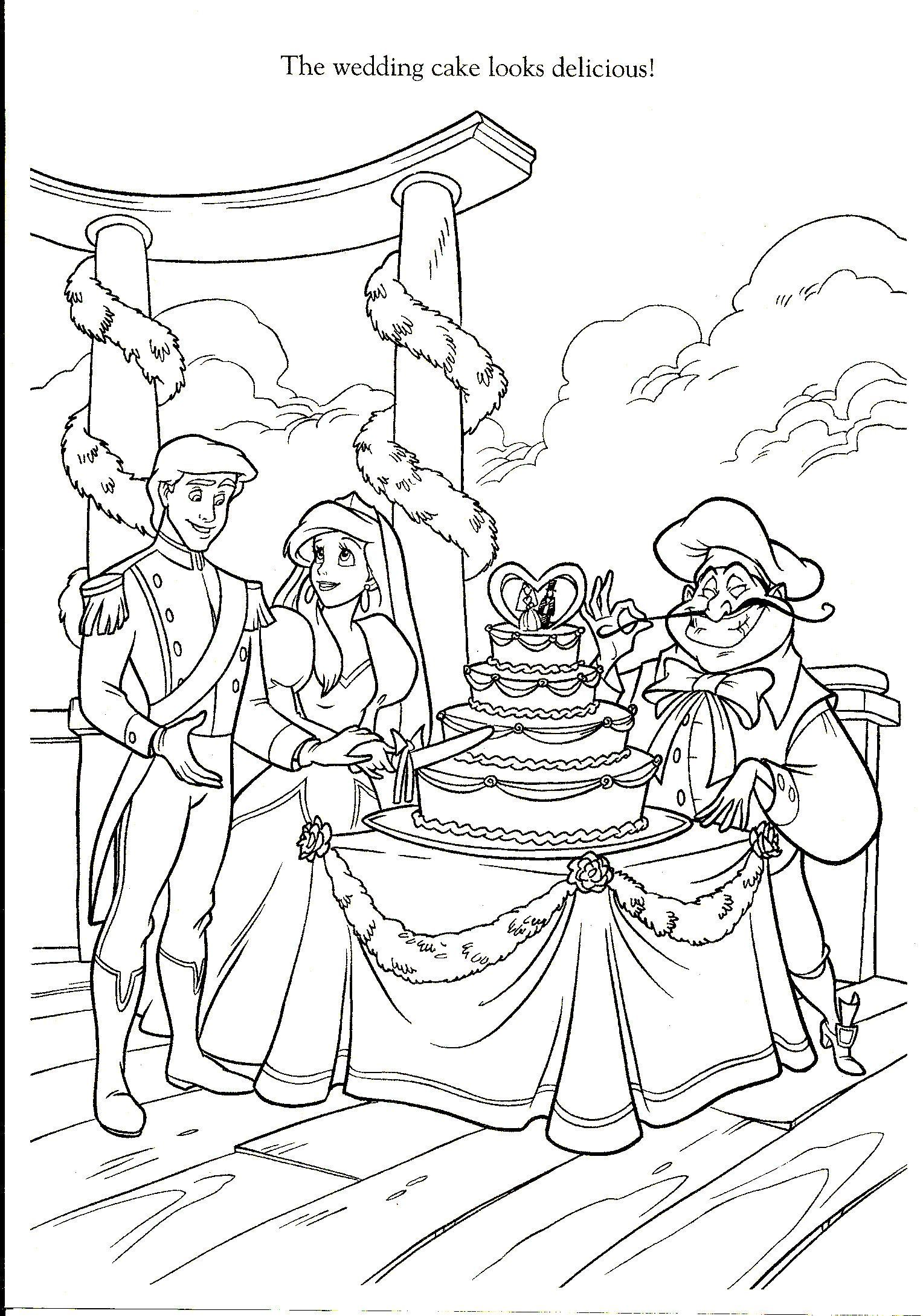 Pin By Ana Fonseca On Craft Disney Disney Coloring Pages Wedding Coloring Pages Mermaid Coloring Pages