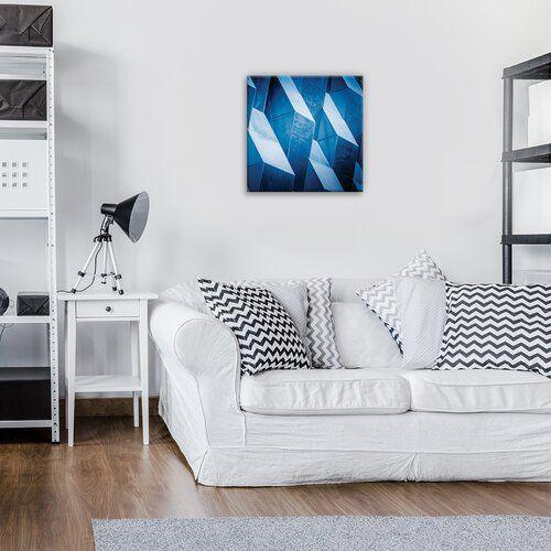 'Geometric Wall' Photographic Print on Canvas East Urban Home Size: 40cm H x 40cm W