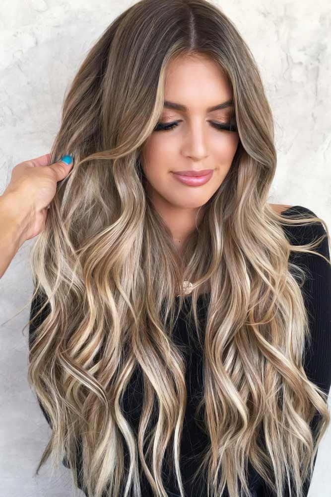 Blonde And Brown Balayage #brunette #highlights Highlighted hair is really glamorous whether it is ombre, sombre, or balayage. We have collected ideas of brunette hair with highlights. #lovehairstyles #hair #hairstyles#haircuts #brownhair