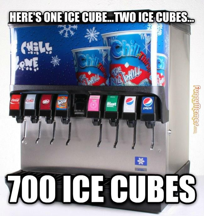 Here's one ice cube...two ice cubes...700 ice cubes.