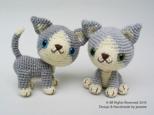 Amigurumi Kitten Patterns : Gray kitten pdf crochet pattern grey kitten pdf and crochet
