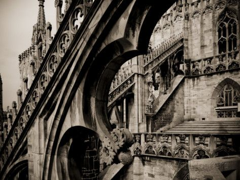 Lombardy Milan Piazza Duomo Duomo Cathedral Roof Detail Italy Photographic Print Walter Bibikow Allposters Com Roof Detail Roof Architecture Green Roof