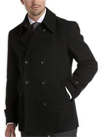 6ebab4e4924 Off Outerwear at Men s Wearhouse. Egara Black Slim Fit Double Breasted  Peacoat