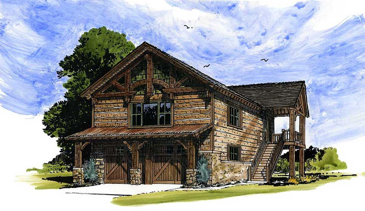 Plan 12939kn Rustic Garage Apartment In 2021 Garage Guest House Garage Apartment Floor Plans Garage Apartments