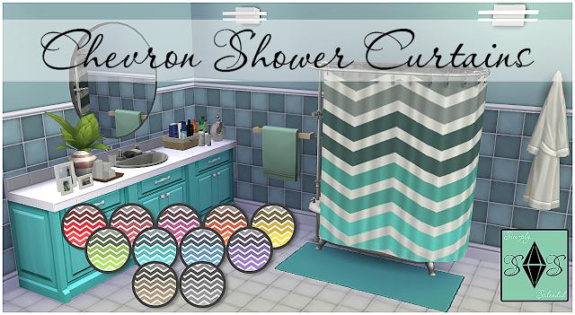 Video Games · Sims 4 CCu0027s   The Best: Chevron Shower Curtains By Sim Ply  Splendid
