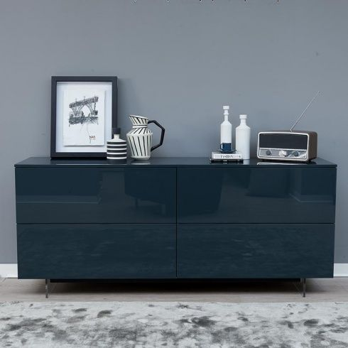 Ex-Display: Space Sideboard, Green High Gloss | Cabinet | Pinterest ...