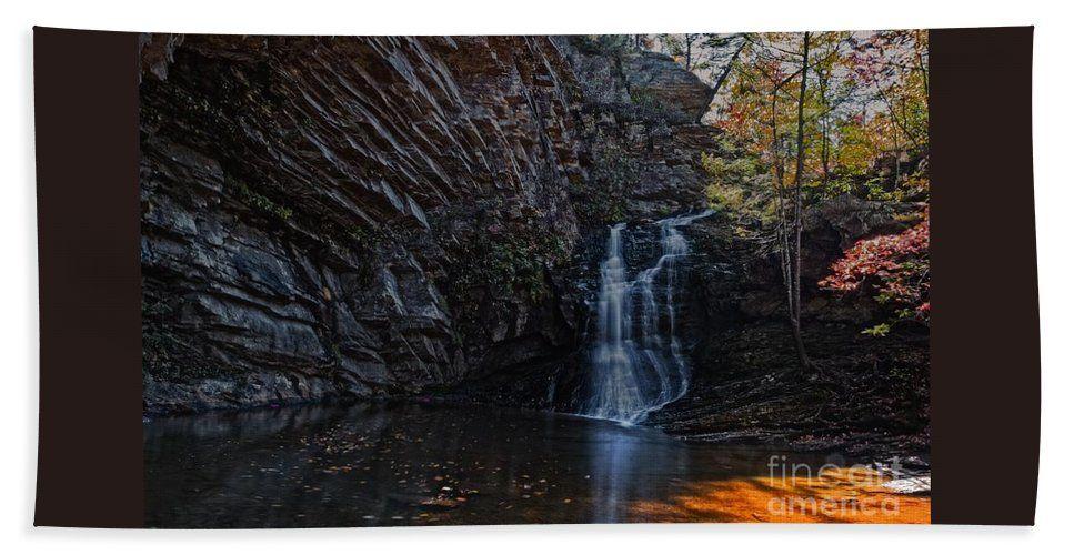 Low Bath Sheet featuring the photograph Lower Cascade Falls by Scott Hervieux