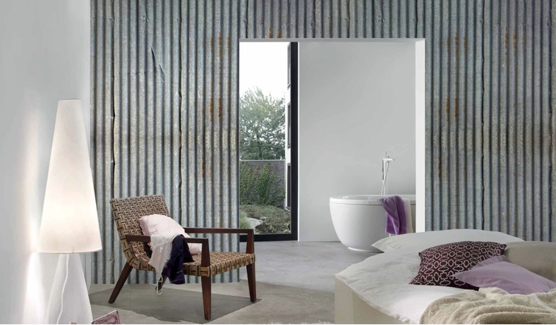 Corrugated Iron Look Wallpaper Love Or Dislike Would You Use This In Your House Jpg 788x461