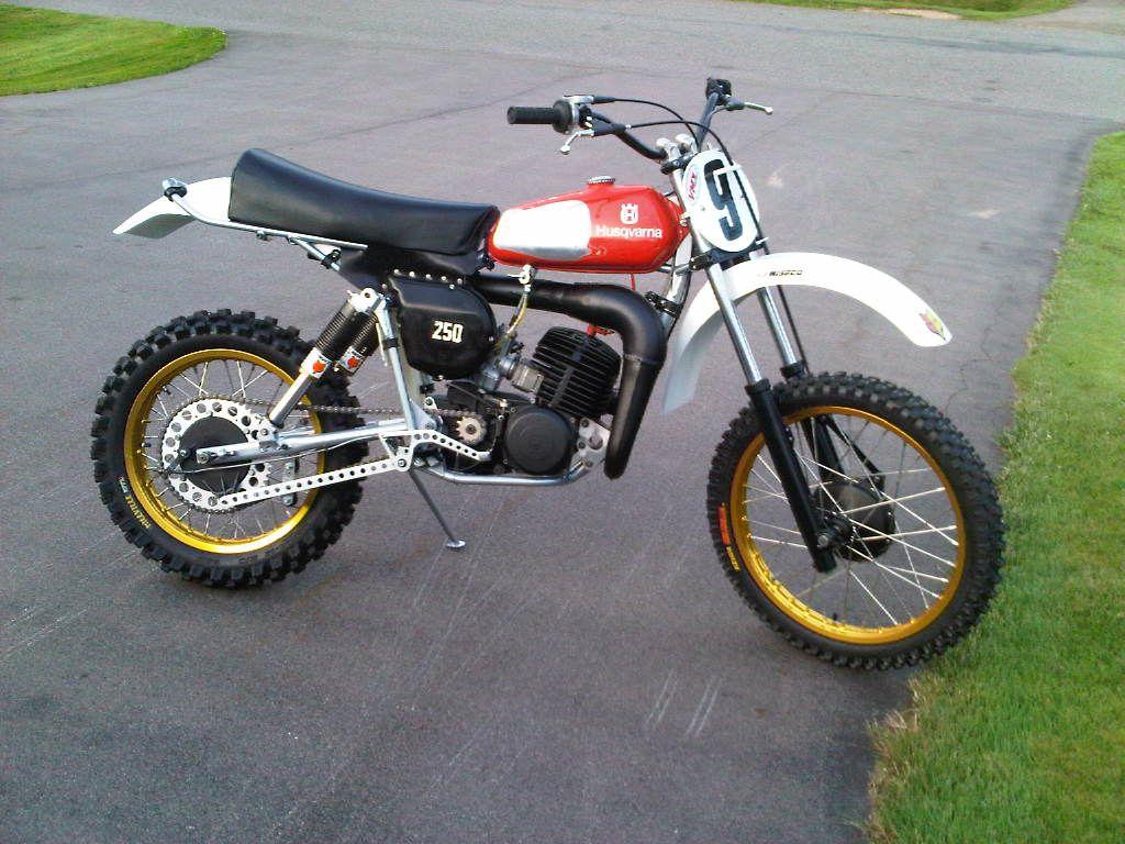 1979 Husqvarna With Fox Airshox Motorcross Bike Motorcycle Motocross Bikes