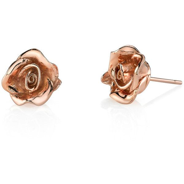 ROSE FLOWER STUDS 1995 liked on Polyvore featuring jewelry