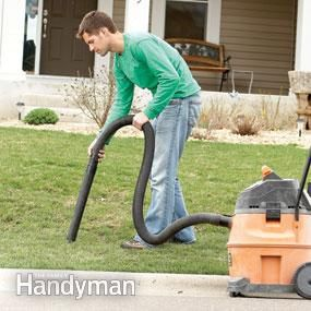 step by step instructions on how to get a lush green lawn in one season!   step 1. Vacuum the pebbles