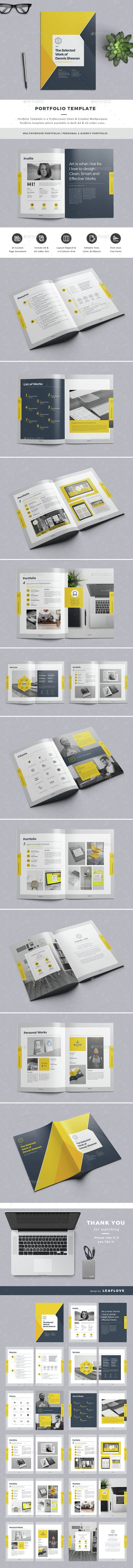 Portfolio — InDesign Template • Only available here! → https ...