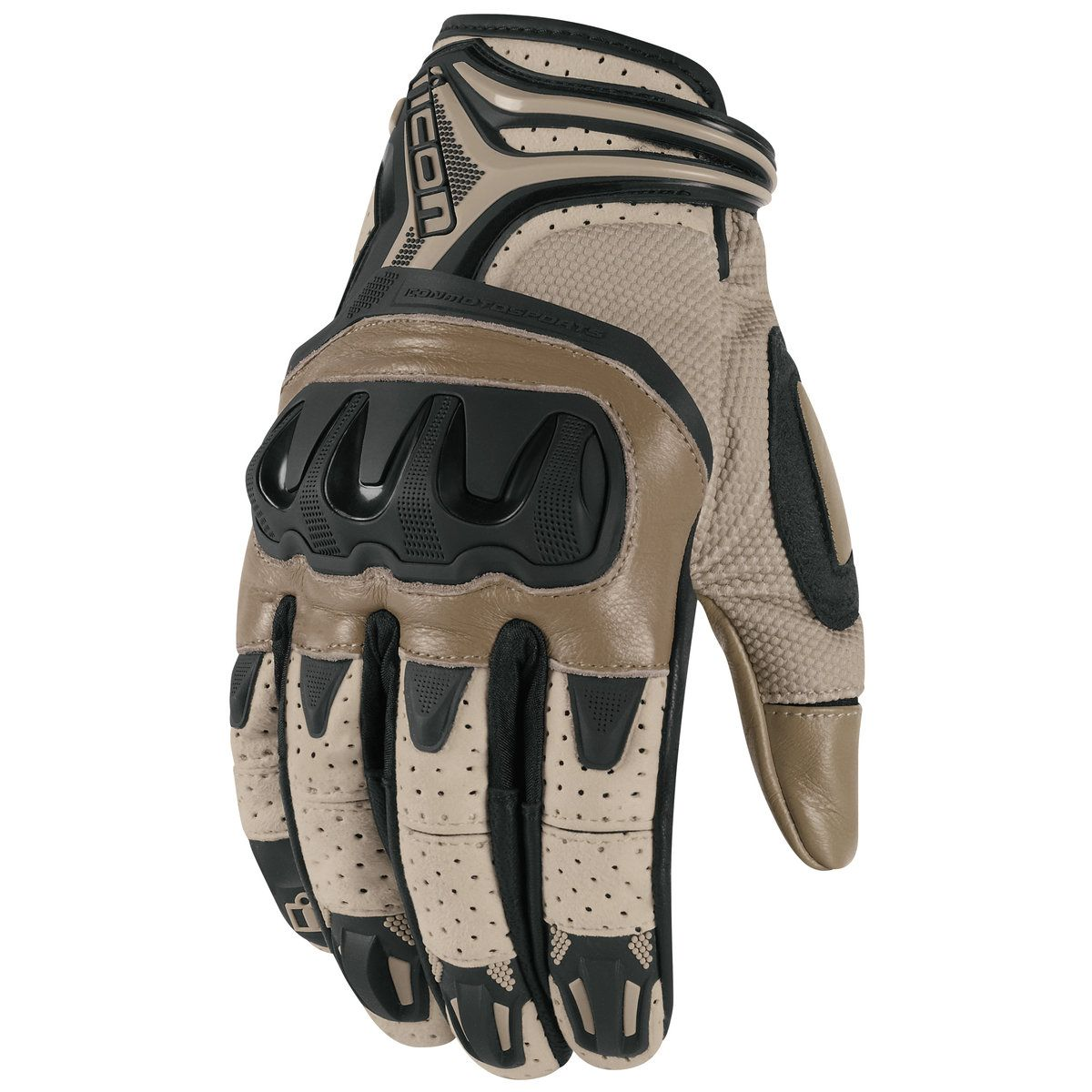 Icon Overlord Resistance Battlescar Gloves Leather