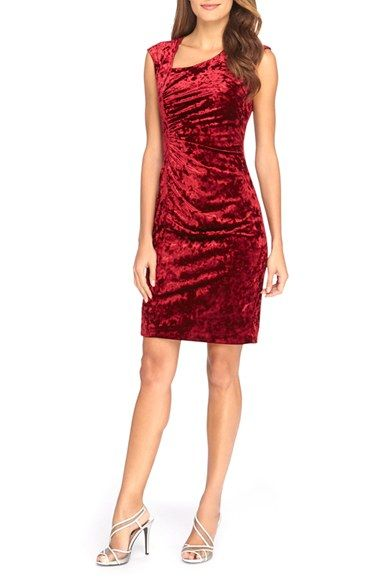 f0459386 Catherine Catherine Malandrino 'Kinsey' Side Gathered Velvet Sheath Dress  available at #Nordstrom