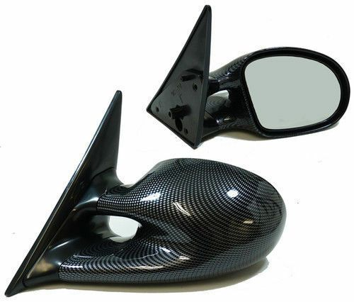 CARBON FIBRE LOOK ELECTRIC M3 STYLE WING MIRRORS FOR BMW