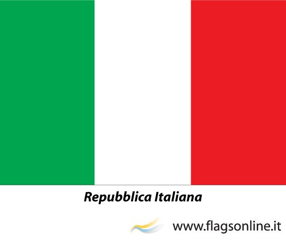 """Italy flag with the motto """"Italian Republic"""" - http://www.flagsonline.it/asp/flag.asp/flag_italy/italy.html"""