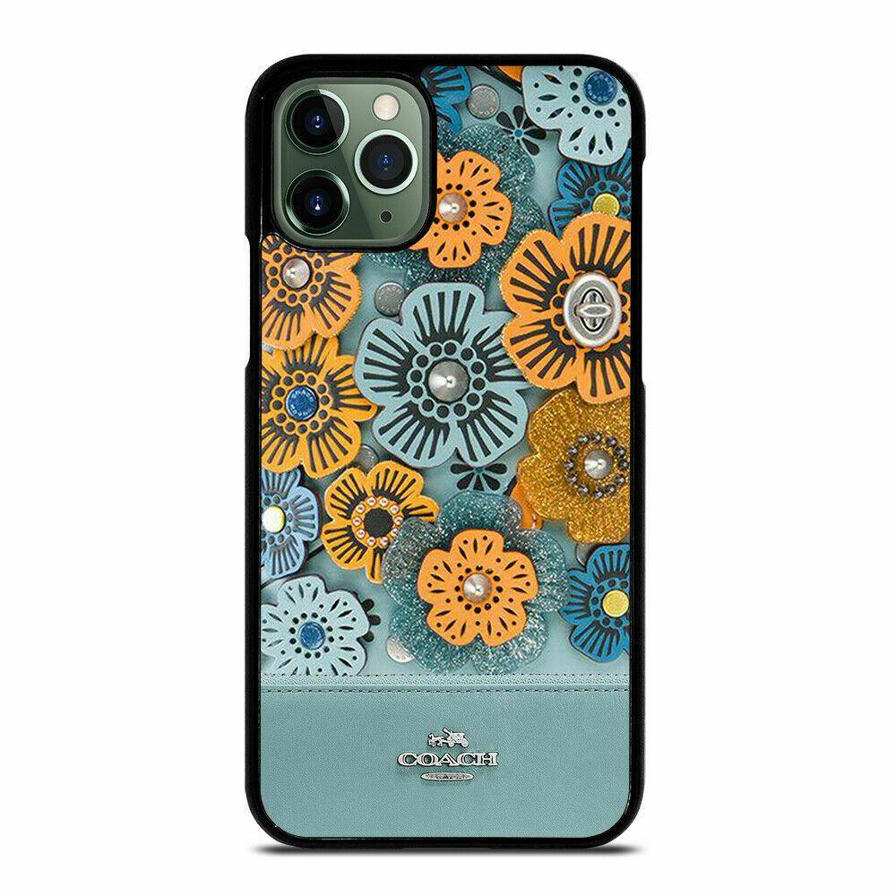 Coach blue tea rose custom for iphone 11 pro max print on