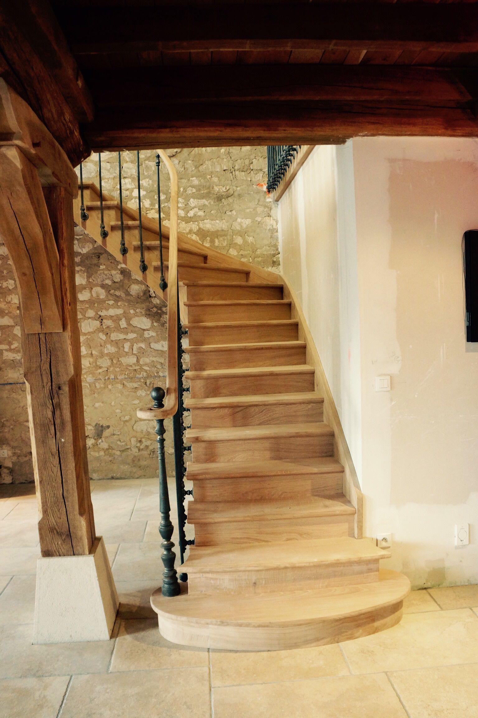 Escalier L Anglaise En Ch Ne 1 Quart Tournant Escaliers L  ~ Escalier Bois Quart Tournant Gauche