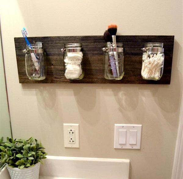 Tarros de cristal para organizar el ba o apunta - Manualidades para la casa decorar ...
